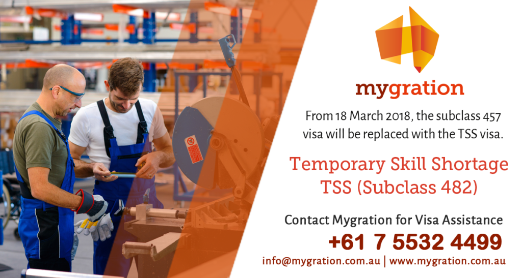 Temporary Skill Shortage Visa - TSS 482 Employer Sponsored Visa